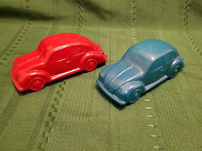 "Lot of 2 Vintage Avon Collectible ""Volkswagen Bug""  Beetle After Shave Decanters"