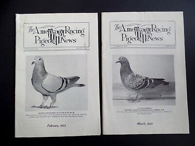 Lot 2x Issues of Antique Racing Pigeon News 1952 Bird Magazine - Antique Aviary