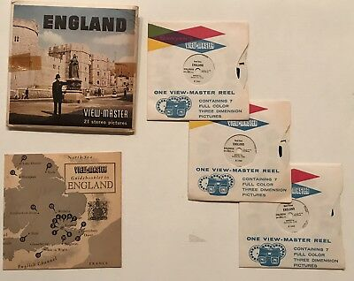 Sawyers View Master Set of England Reels with Souvenir Pack