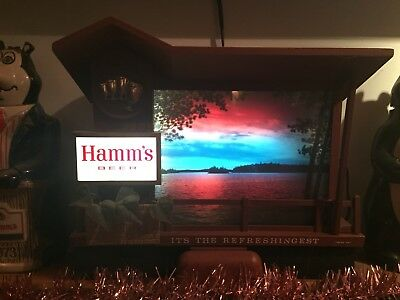 FIVE 5 TWILIGHT SUNRISE SUNSET HAMMS Brewing Company Motion Beer Sign MOTOR ONLY