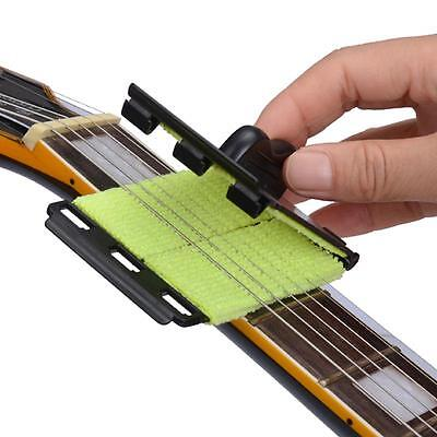 Electric Guitar Bass Strings Scrubber Rub Cleaning Fretboard Instrument Cleaner