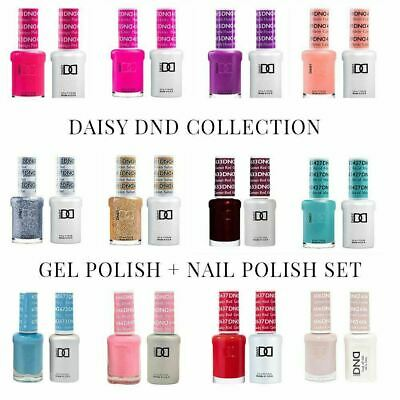 DND Gel Polish Soak Off + Nail Polish Duo Set Colours 2 x 15ml Full Collection