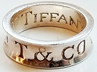 Genuine TIFFANY & Co. - 1837® collection - Thick RING, Sterling Silver
