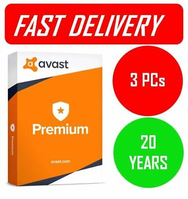 Avast Premium | 🔑 20 YEARS License for 3 PC's 📥Digital Delivery