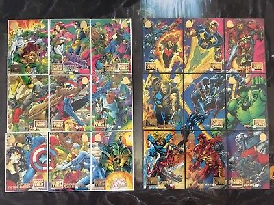 Marvel Universe Trading Cards BLOOD TIES CRASH & BURN Full Set Lot x2