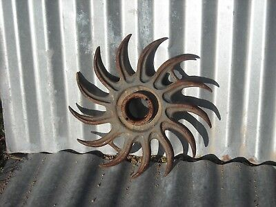 Dawn Vintage Rotary Hoe Wheel Garden Art Farm Punk
