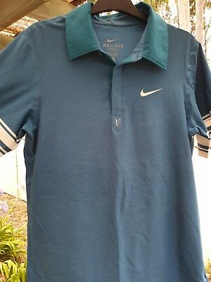 Nike RF Tennis Polo Shirt Dri-Fit Roger Federer French Open 2010 Mens Size Small