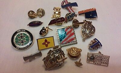 Vintage Lot (19) Pins Trolly HA Balloon Wishing Well Thespian Flags ADV & More