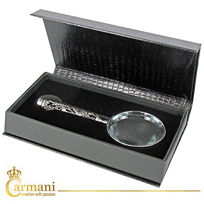 CARMANI - Handheld Magnifier with 3D metal Grape pattern
