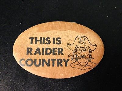 "Vintage NFL Raiders Pin Button "" This Is Raiders Country"" 1974"
