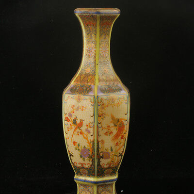 Chinese Enamel Porcelain Hand Painted Vase Made During The Kangxi Period RF009+a