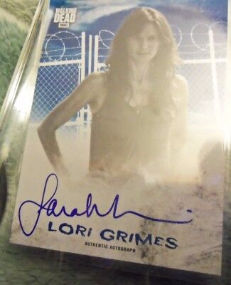 "2018 Topps  Walking Dead Hunters & Hunted Lori Grimes ""blue"" On Card Auto46/50"