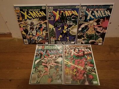 Marvel Comics Bronze Age Uncanny X-Men 5 Issue Lot