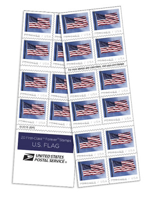PRE ORDER USPS 2019 US Flag Stamp booklet of 20 stamps NEW