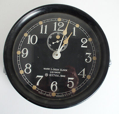 Seth Thomas Phenolic Mark I Deck Clock Navy Wwii