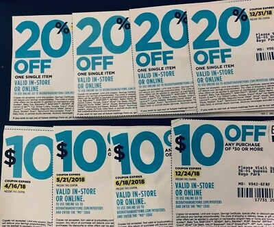 8 Coupons! Four $10 Off $30+ And Four 20% Off Bed Bath And Beyond Coupons!!!