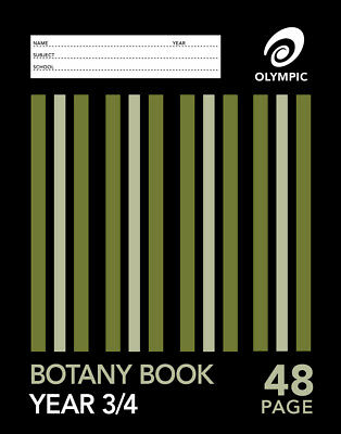 Olympic Stripe Botany Book Year 3/4 Qld Ruled A4 48 Page