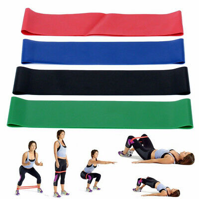 4 in 1 Elastic Resistance Bands Loop Set Exercise Sports Fitness Home Gym Yoga