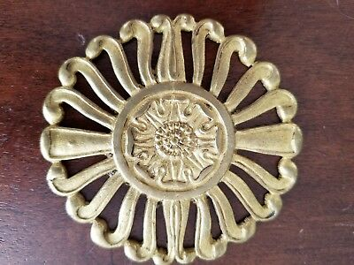 French Empire Neoclassical Guilded Bronze Ornament Rosette