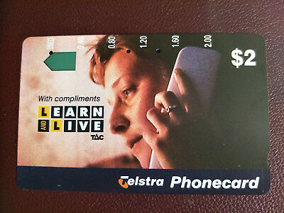 Used $2 Learn and Live Phonecard Prefix 931