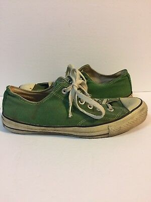 Vintage CONVERSE All Star Chuck Taylor Green Low Top Size 7 1/2 Made in USA
