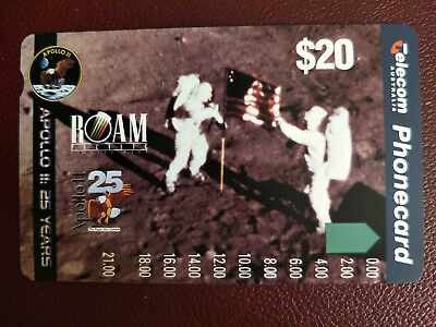 Mint $20 Apollo 11: 25 Years Phonecard Prefix 562
