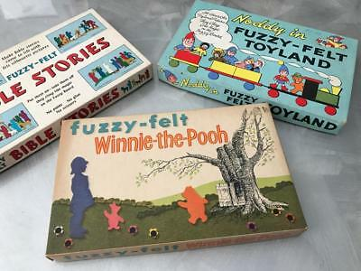 Old Vintage Rare School Fuzzy Felt Noddy Big Ears Whinnie The Pooh Bible Story
