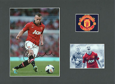 TOM CLEVERLEY Signed 10x8 Photo Display MANCHESTER UTD & ENGLAND COA