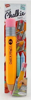 Giant Chalkie Chalk Pencil With Working Eraser, Sharpener, Storage and 3 chalks