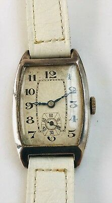 Vintage 1930's Mens Art Deco Swiss Movement Wrist Watch