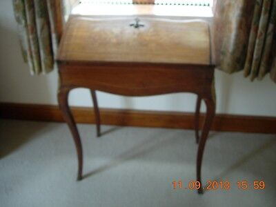 Antique Ladies writing desk French Kingswood with floral inlay
