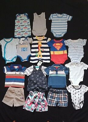 Baby Boy Clothes Size 000 Bulk Pack With 17 Items Inc Bonds