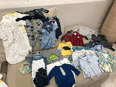Bulk Lot Of Baby Boys Sz 000 Bodysuits Clothes Seed Carters Marquise Bonds