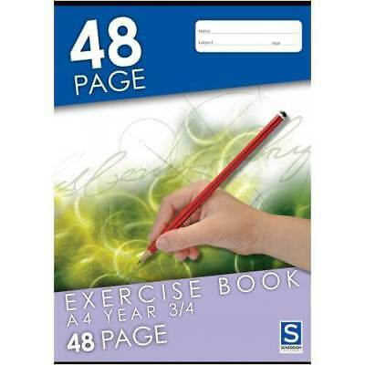 A4 Exercise Book 210x297mm 48 Page Year 3/4 Ruled Sovereign 96151