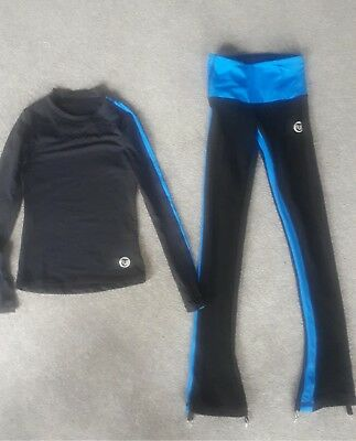 girls thuono ice skating leggings and top size 1