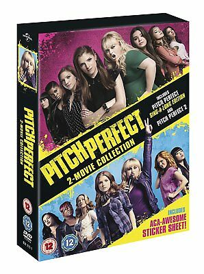 Pitch Perfect 1 & 2 2 Movie Collection 2 Disc New & Sealed DVD Box Set