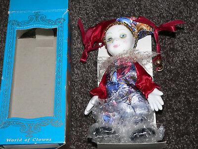 World of Clowns hand painted porcelain clown doll plus 2 international dolls  *