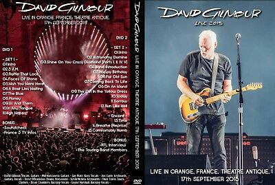 David Gilmour. 2015. Orange. Theatre Antique. 2 Dvd.