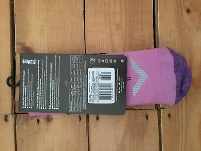 Nike Mens/Womens Compression Socks Elite Anti-Blister Support Pink Gym Running