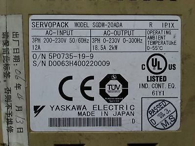 1PC Used Yaskawa SGDM-20ADA AC Servo Drive In Good Condition