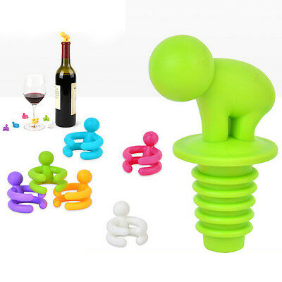 1 Set Creative Cup Wine Glass Silicone Label Rubber Marker Bottle Stopper Cup SP