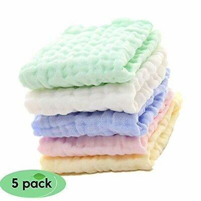 Baby Muslin Washcloths Newborn Face Towel Baby Wipes Cloth Bibs Bathtime Unisex