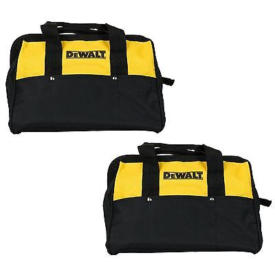 "2 New DeWalt 13 Inch Heavy Duty Tool Bags With 6 Pockets 13""L x 10""W x 10""D"