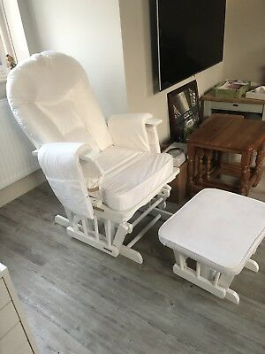 Natural Nursing Maternity Chair With Footstool And Moses Basket