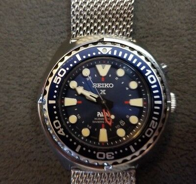 Seiko Sun065 Special Edition Padi Kinetic Gmt Diver Watch By Seiko