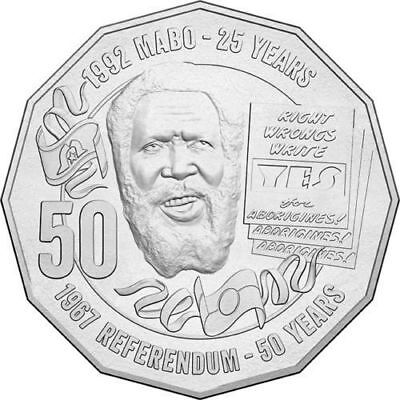 Australian Fifty 50c cent coin - 2017 - MABO Pride & Passion - Unc