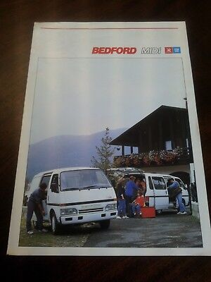Bedford Midi by General Motors brochure depliant pubblicitaria nov. 1988 pag. 6