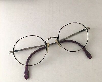 e106cb66d4 Albert Nipon Vintage Rx Glasses Round Metal Frame Made In Japan Sz 48-21-