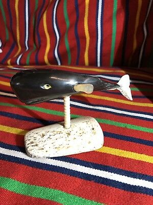 Old Vintage  Whale Bone  Sculpture / Statue hand made ship only Europe