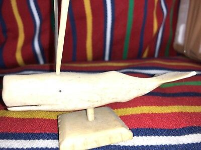 Whale  Bone Sculpture Hand Made ship only Europe